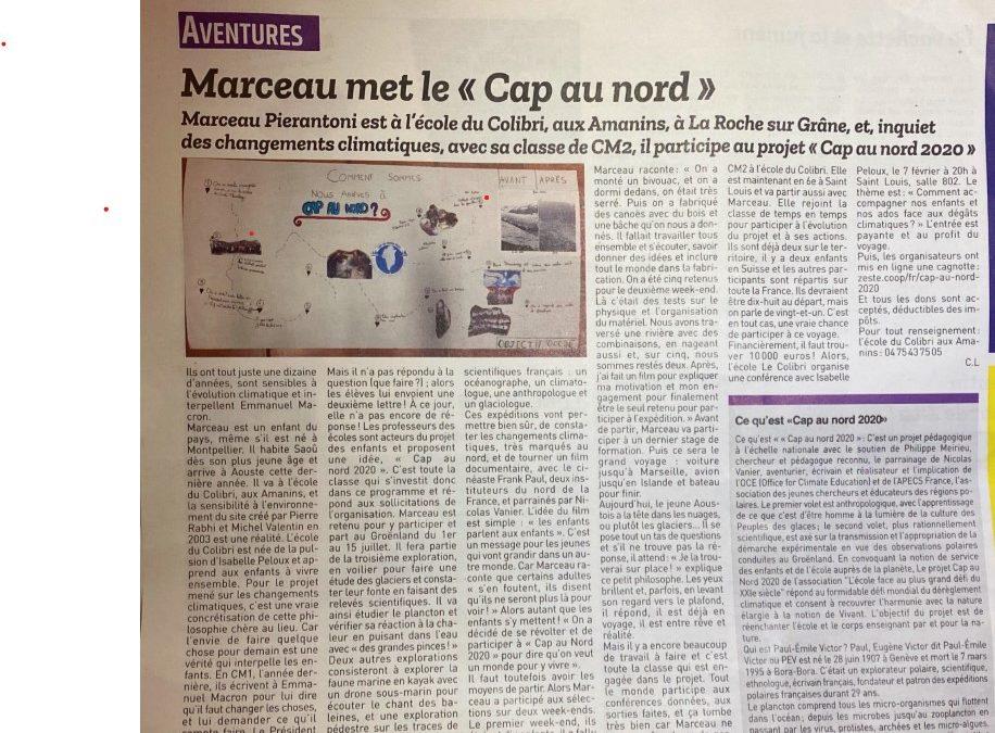 Article de presse locale, super Marceau!