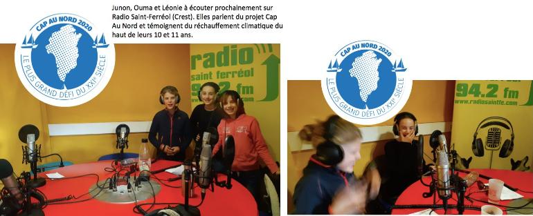 Interview de 2 élèves à la radio «Saint Ferreol»!