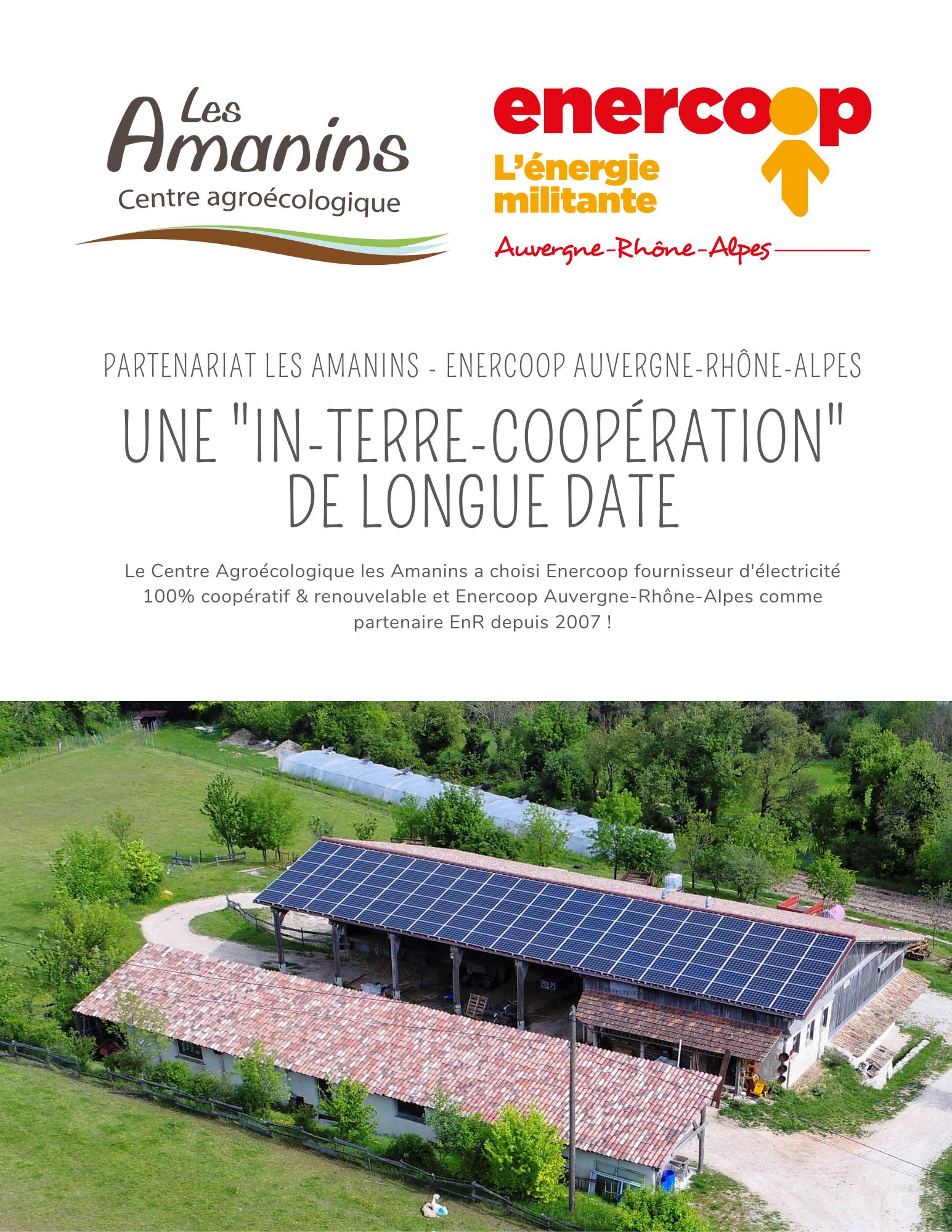 Communiqué de presse Partenariat Les Amanins - Enercoop