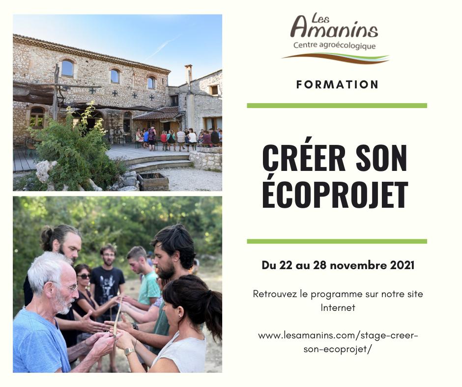 Formation Créer son écoprojet Les Amanins Drôme 26
